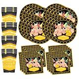 Wrestling Birthday Party Supplies Set Plates Napkins Cups Tableware Kit for 16