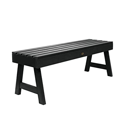 Amazing Highwood Ad Benn4 Bke Weatherly Backless Bench 4 Feet Black Pabps2019 Chair Design Images Pabps2019Com