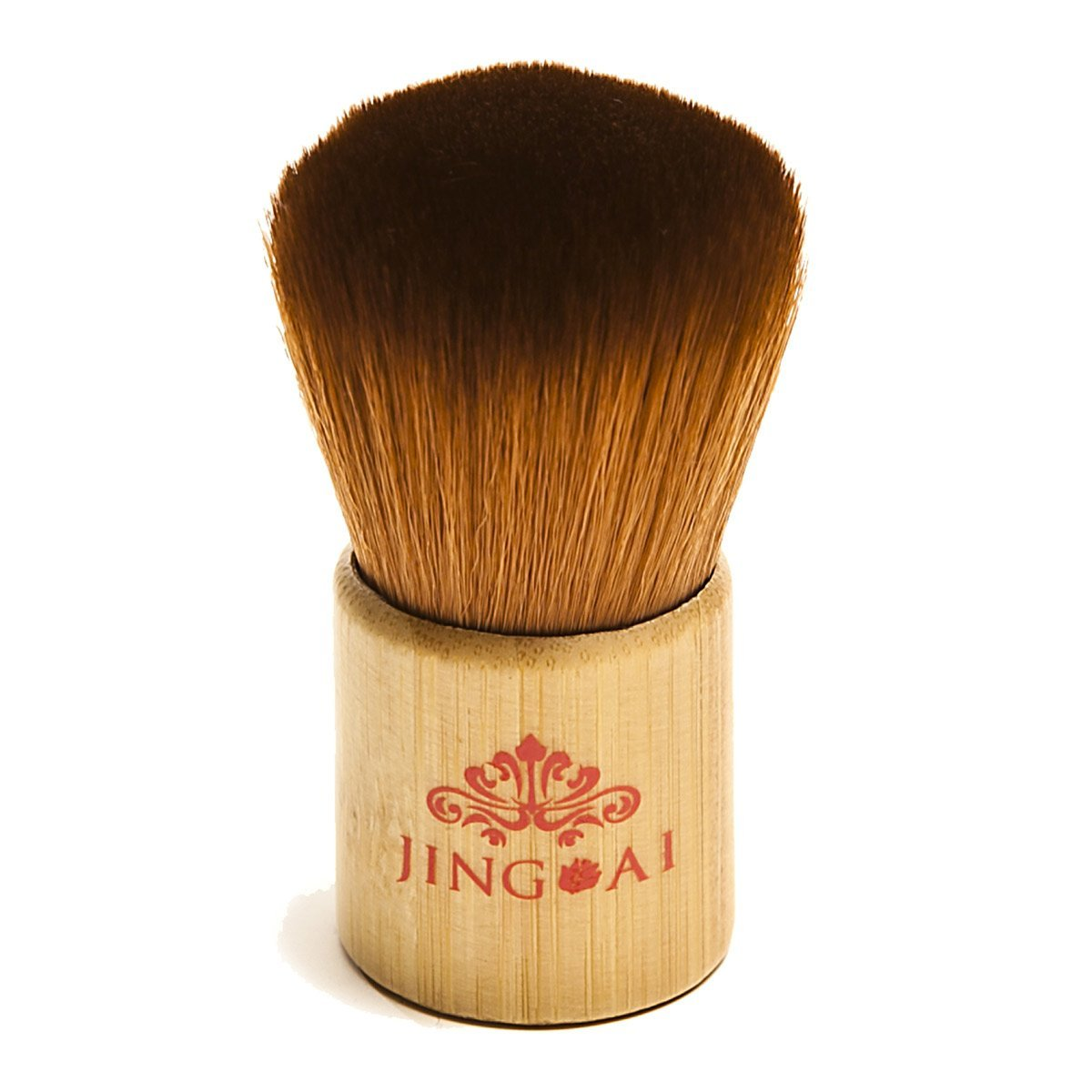 Kabuki Foundation Makeup Brush - Jing Ai's Best Soft Kabuki Brush Flawlessly Buffs Color Onto Your Cheeks, Eyelids Or Anywhere You Are Looking For A Healthy Pop Of Color. Creates The Perfect Face