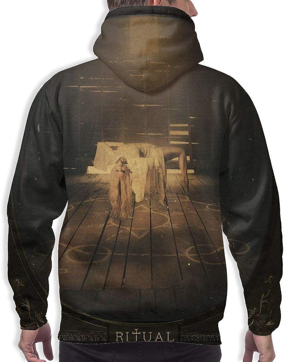 in This Moment Ritual Mens Leisure Hooded Sweatshirt Black