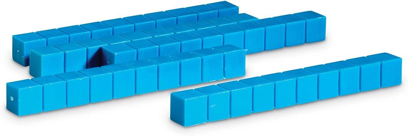Learning Resources- Barras de plástico de Base Diez con Ranuras (Set de 50), Color (0 LER0925)