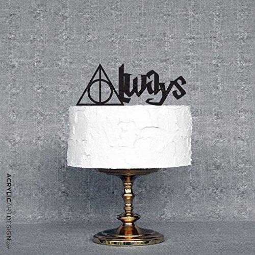 Always Cake Topper for Weddings by Acrylic Art Design / Harry Potter inspired Always - Wedding Cake Topper Cinderella