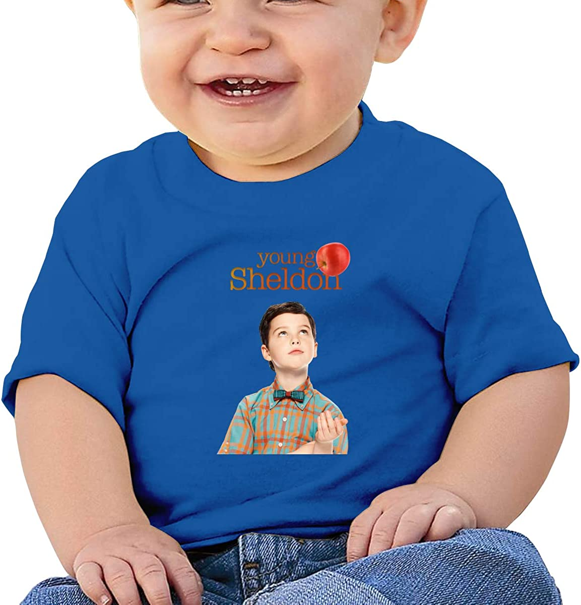 Honshang Young-Sheldon Short-Sleeve Blue Tshirts for Baby T Shirt