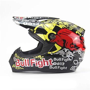 Qianliuk Motorcycle Motocross Helmet Mountain Bike Full Face Helmet