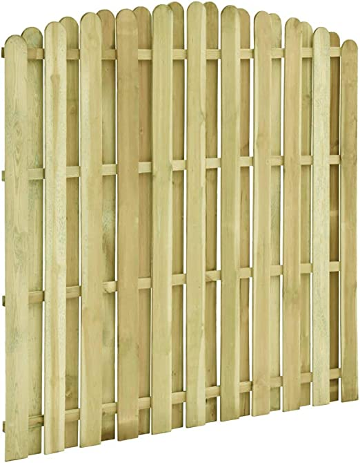 Festnight Panel de Valla Madera de Pino Impregnada Vallas de Madera para Jardin 180x(155-170) cm: Amazon.es: Hogar