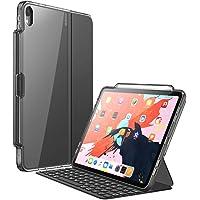 Funda para iPad Pro 12.9 '' 2018,Teclado par i-Blason [Compatible con la funda inteligente oficial y el teclado inteligente] Funda Clear Protecive con soporte para lápiz para iPad Pro 12.9 Inch 2018 Release (3rd Generation) (Negro)