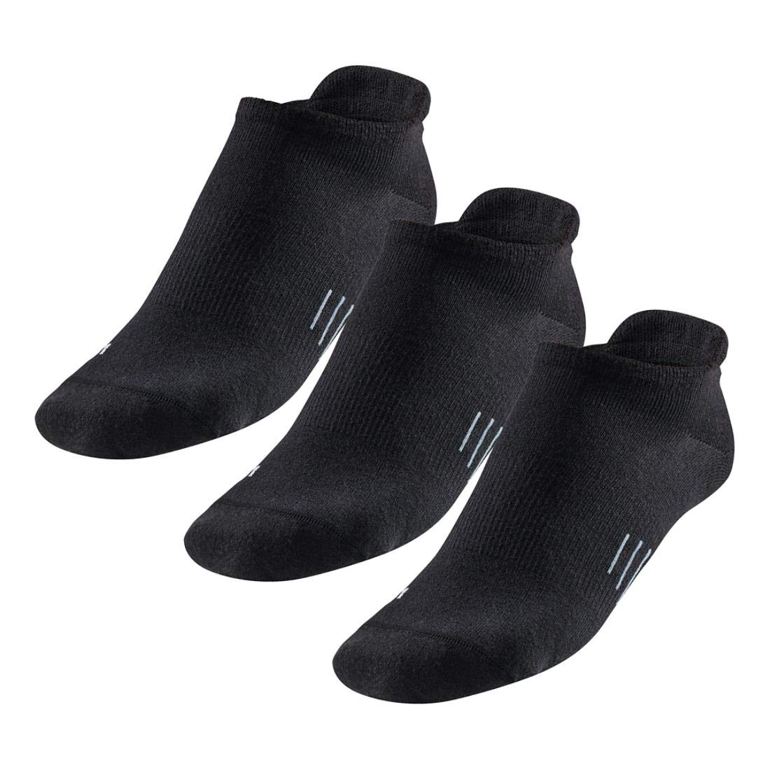 R-Gear Women's No Show Running Socks (3-Pack) | Super Femme, Super Cute, Super Dry, Black/Thin, S/M