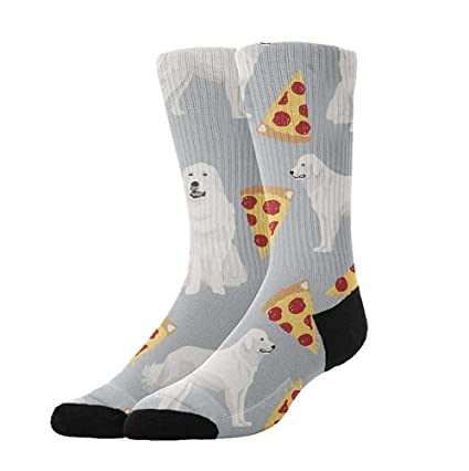 85392e288342 Amazon.com: YEAHSPACE Great Pyrenees Pizza - Funny Colorful Pattern Dress  Crew Socks,Athletic Cotton Socks for Men Women: Home & Kitchen