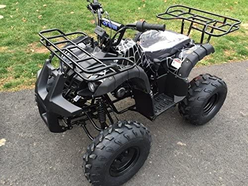 Brand New Youth Size ATV with 110cc engine and  Big Rugged Wheels with REVERSE Black Spyder