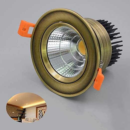 Verlight Estilo Europeo Retro Bronce LED Proyector Sala de Estar ...