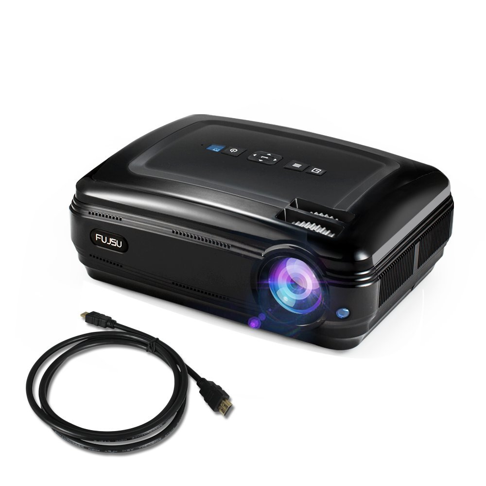 Video Projector,FUJSU 3200 Lumens HD LED Slide Projector 1080P HDMI USB VGA SD Card AV for Office Powerpoint Presentations Home Cinema Theater Office Projectors for TV Laptop iPhone Andriod Smartphone by FUJSU