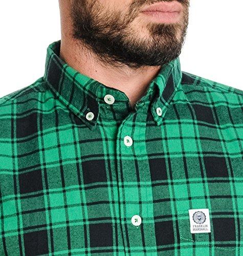 Franklin & Marshall Herren SHMAL266W151884 Grün Baumwolle Hemd