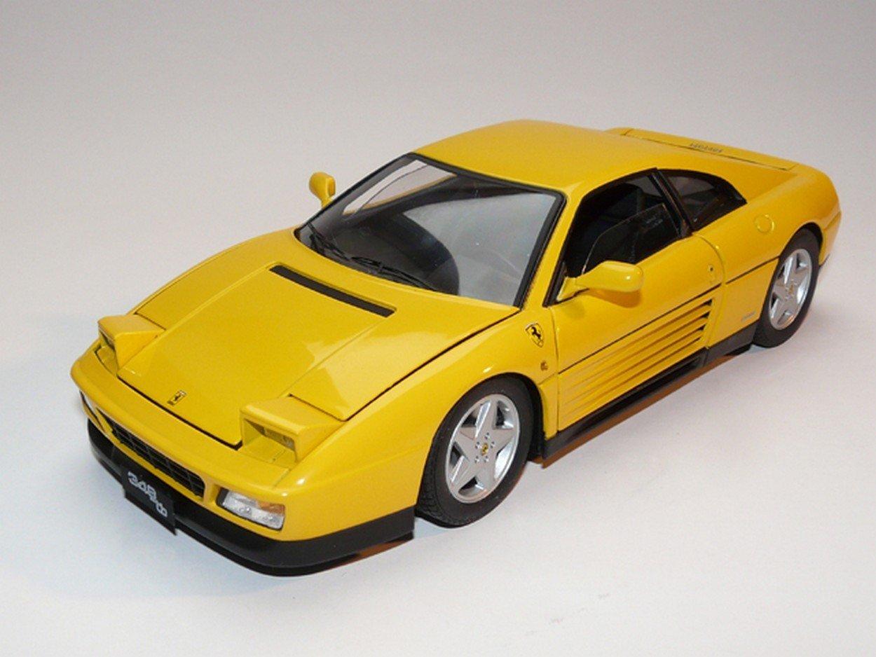 NEWES Hot Wheels HWV7437 Ferrari 348 TB 1989 Yellow 1:18 MODELLINO Die Cast Model