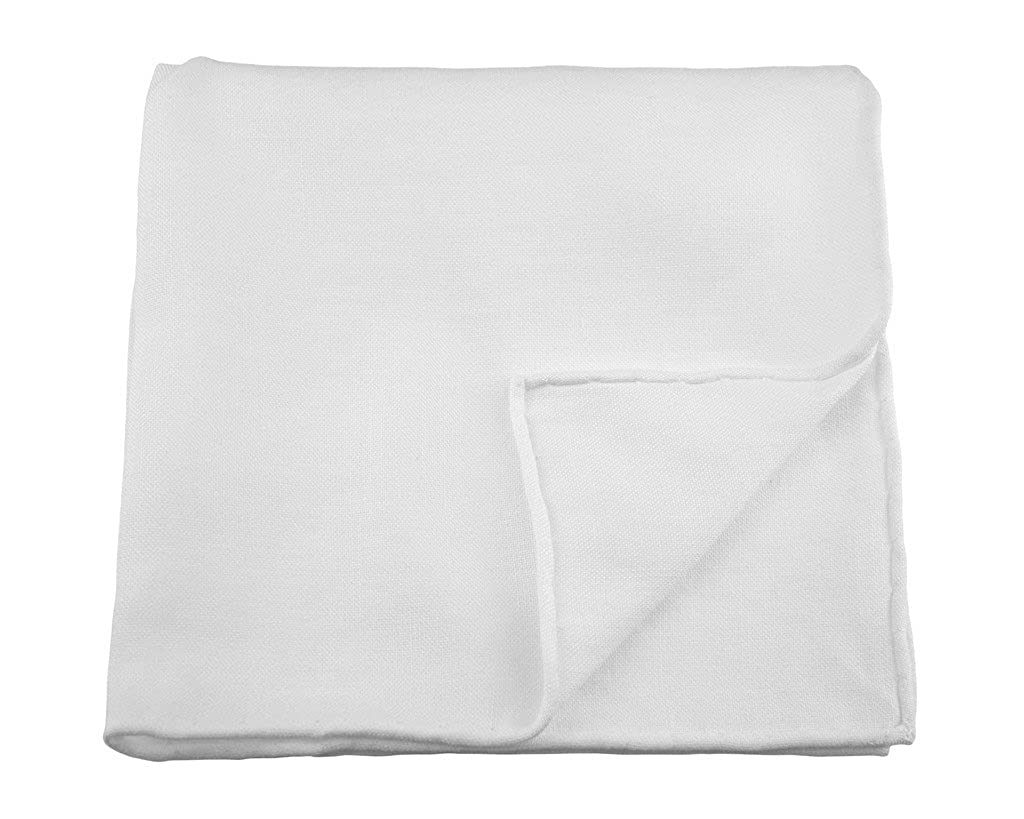Kent Wang Pocket Square Linen White Hankerchief - A must have for any wardrobe