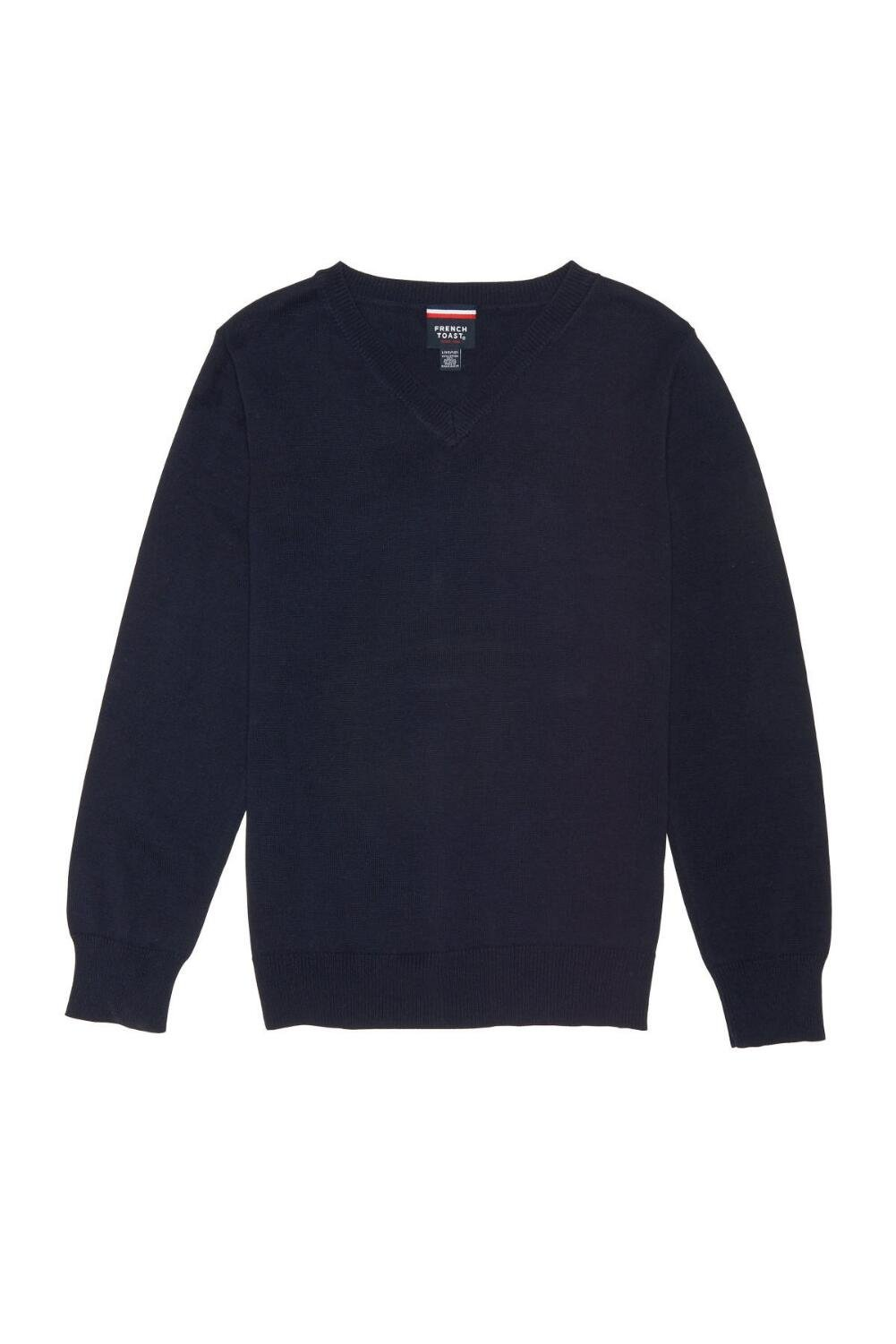French Toast Little Boys' Fine Gauge V-Neck Sweater, Navy, XS (4/5) by French Toast (Image #1)