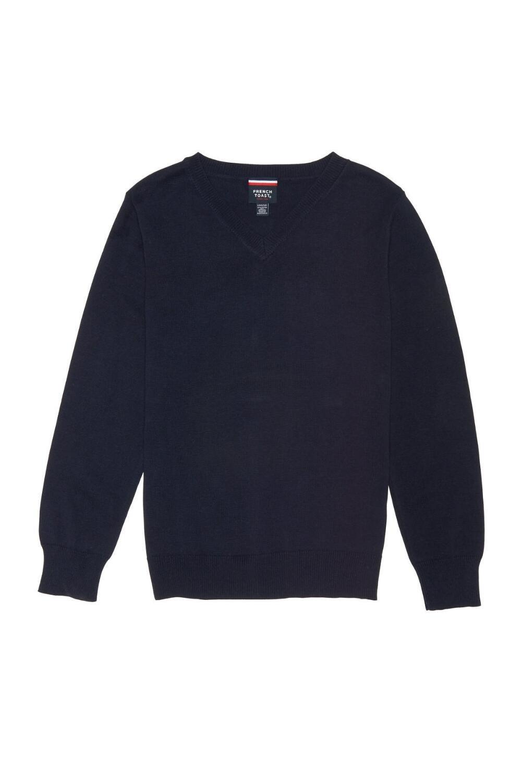 French Toast Little Boys' Fine Gauge V-Neck Sweater, Navy, XS (4/5)