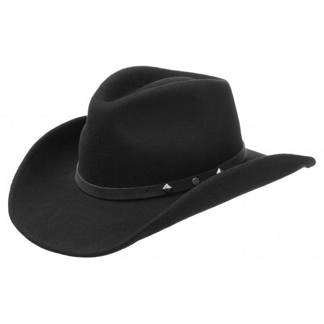 5ecdb7f3f4c Stetson Bangs Western Hat felt wool  Amazon.co.uk  Clothing