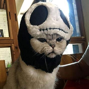 FOONEE Gato Halloween Disfraz de Terciopelo Sombrero, Lindo Animal Forma Peluca Disfraz de Halloween Fiesta Disfraz para Gatos pequeños o Perros Vestido ...
