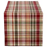 """DII 14x72"""" Cotton Table Runner, Give Thanks Plaid - Perfect for Fall, Thanksgiving, Catering Events, Dinner Parties, Special Occasions or Seasonal Décor"""