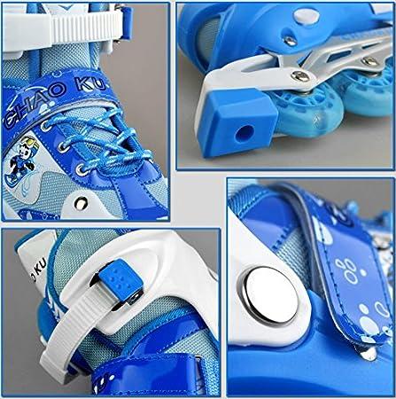 Talla Ajustable 3 Colores Disponibles Chao Ku Patines en l/ínea para ni/ños Incluye Conjunto de protecci/ón