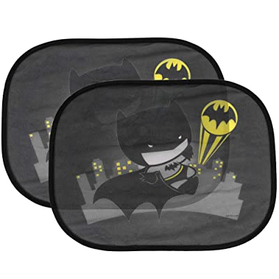 "(2 Pack) Cute Chibi Batman Side Car Window Sun Shade - 17""x13"" Licensed DC Comics Superhero Cling Sunshade for Glare-UV Ray Protection for You and Your Child Baby–Universal Fit for Car Sedan Truck SUV: Automotive"