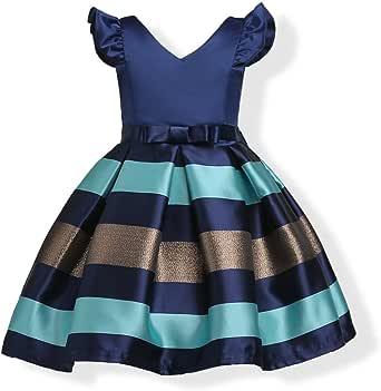 2-10T Girls Kids Floral Ruffles Flower Dress Ball Gown Party Formal Dresses
