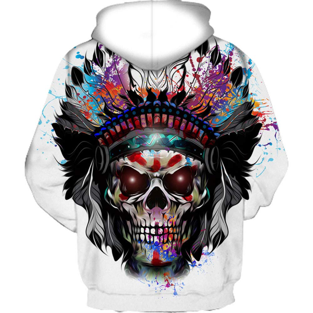 2018 Big Promotion Caopixx Sweatshirt for Men Autumn Winter 3D Print Long Sleeve Hooded Pullover Top Blouse