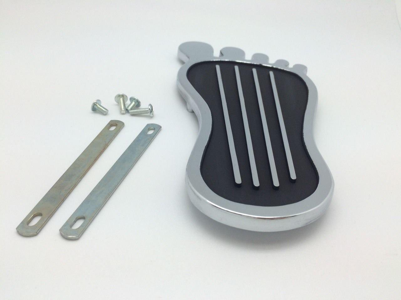 1 acceleratore Foot Stile a Piedi Nudi del Pedale del Gas Pad Copertura Hot Rod Rat Cromato Personalizzato