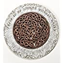 Unity Strength Bronze Endless Knot 12 Inch Polyresin Decorative Stepping Stone