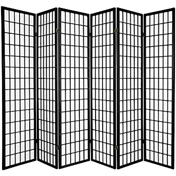 This Item Legacy Decor 6 Panel Room Screen Panel Divider Black Finish