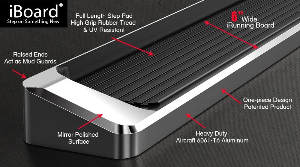 APS iBoard Running Boards Nerf Bars Side Steps Step Rails Compatible with 2004-2020 Nissan Titan King Cab Pickup 4-Door /& 16-20 Titan XD Black Powder Coated 4 inches