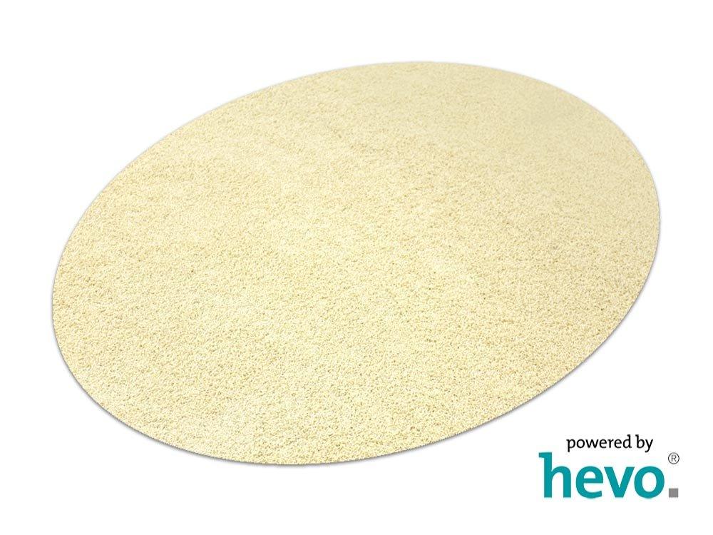 Fiji wollWeißs HEVO® Hochflor Shag Teppich   Kinderteppich 200 cm Ø Rund  125x195 cm Ellipse