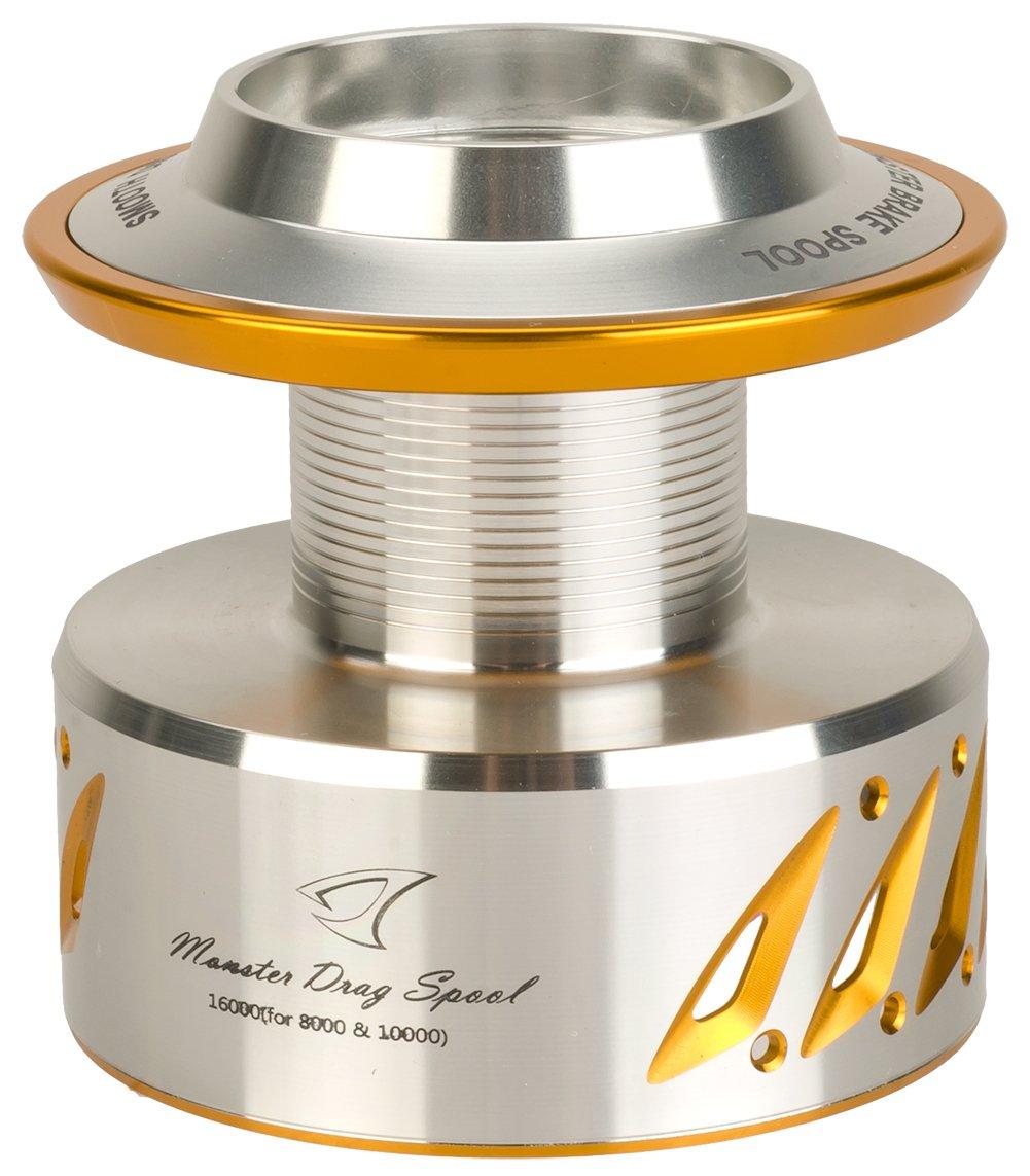 Evike Jiggingマスターns-16 16000モンスタースプールfor Shimano Stella &ツイン電源 B01KW3YPF0  Silver/Gold - (64565)