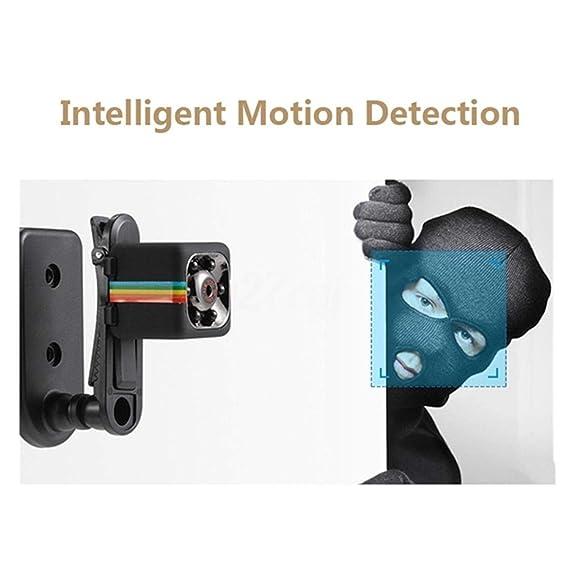 Juzie Cámara Mini, cámara de Seguridad Oculta pequeña portátil Full HD 1080P, cámara Micro SD de 32GB con detección de Movimiento y visión Nocturna, ...