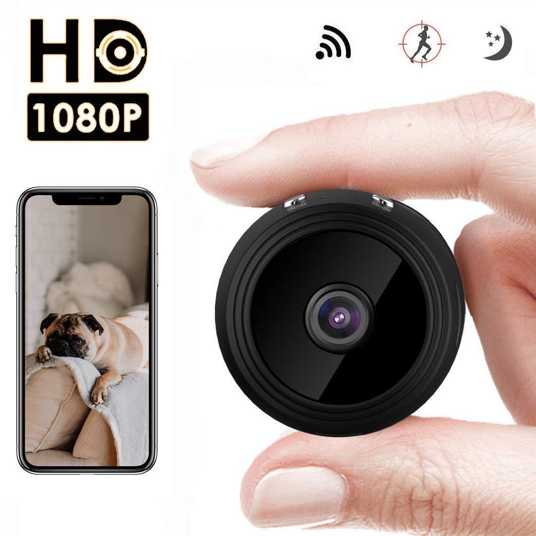 Mini Cámara Espía Oculta,HD 1080P WiFi cámara de Seguridad inalámbrica portátil por 150 Grados