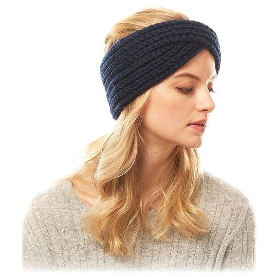 Time /& Tru Women Winter Ladies Knit Headband Head Warmer Metropolis Burgundy