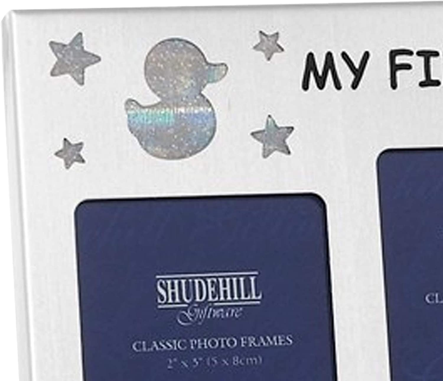 1 Year Silver Plated My First Year New Baby Triple Photo Frame 1 Day 1 Month