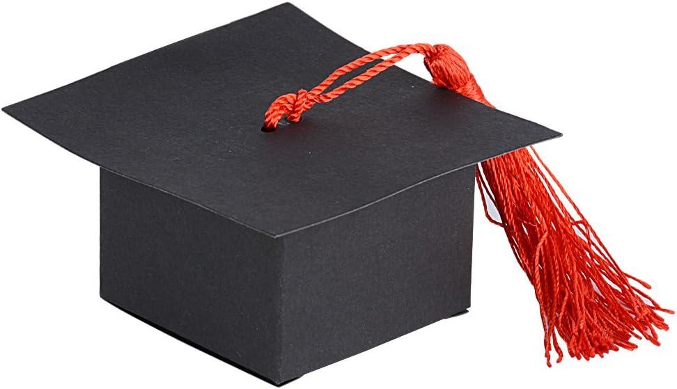 10stk Doktor Hut Deckel Süßigkeiten Box Geschenkbox Abschluss Feier Party Deco