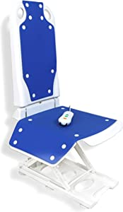 """MAIDeSITe Electric Bath Lift Chair   Suitable for Bathtubs Larger Than 16"""" Wide   6 Bottom Non-Slip Suction Cups   High-Strength Steel Pole for Extra Safety   Collapsible   Bearing Weight 300LB"""