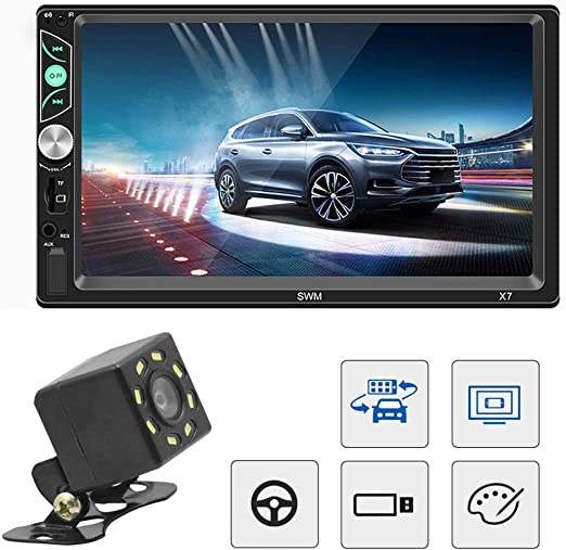 7Inches Double Din Car Radio HD Touch Screen Car MP5 Player Digital Audio Music Player For Toyota Corolla
