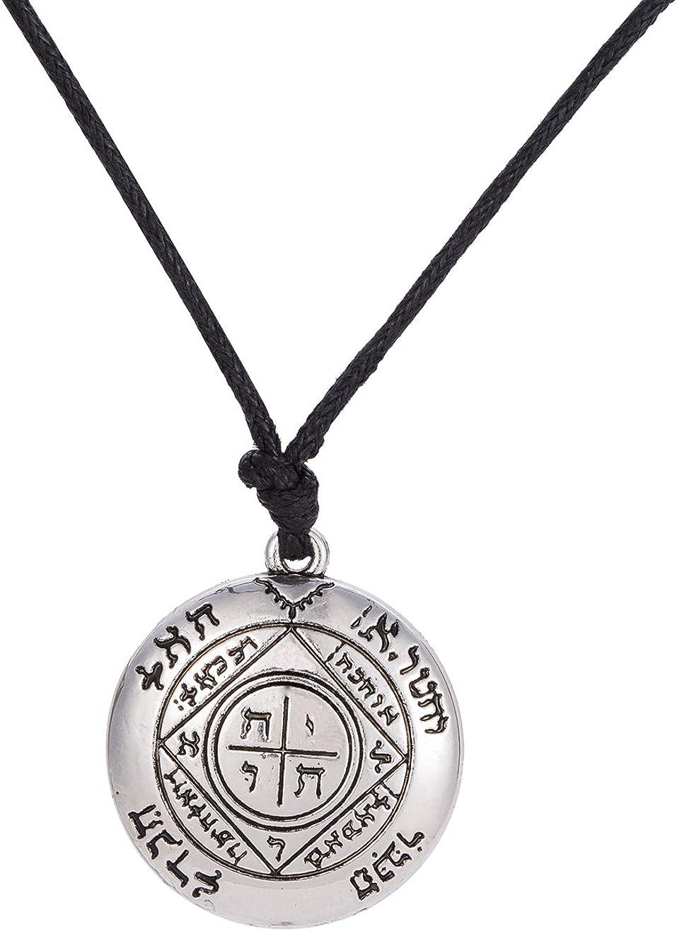 Dawapara Gothic The Third Pentacle of Jupiter King Solomon Seal Pendant Necklace Gift Jewelry