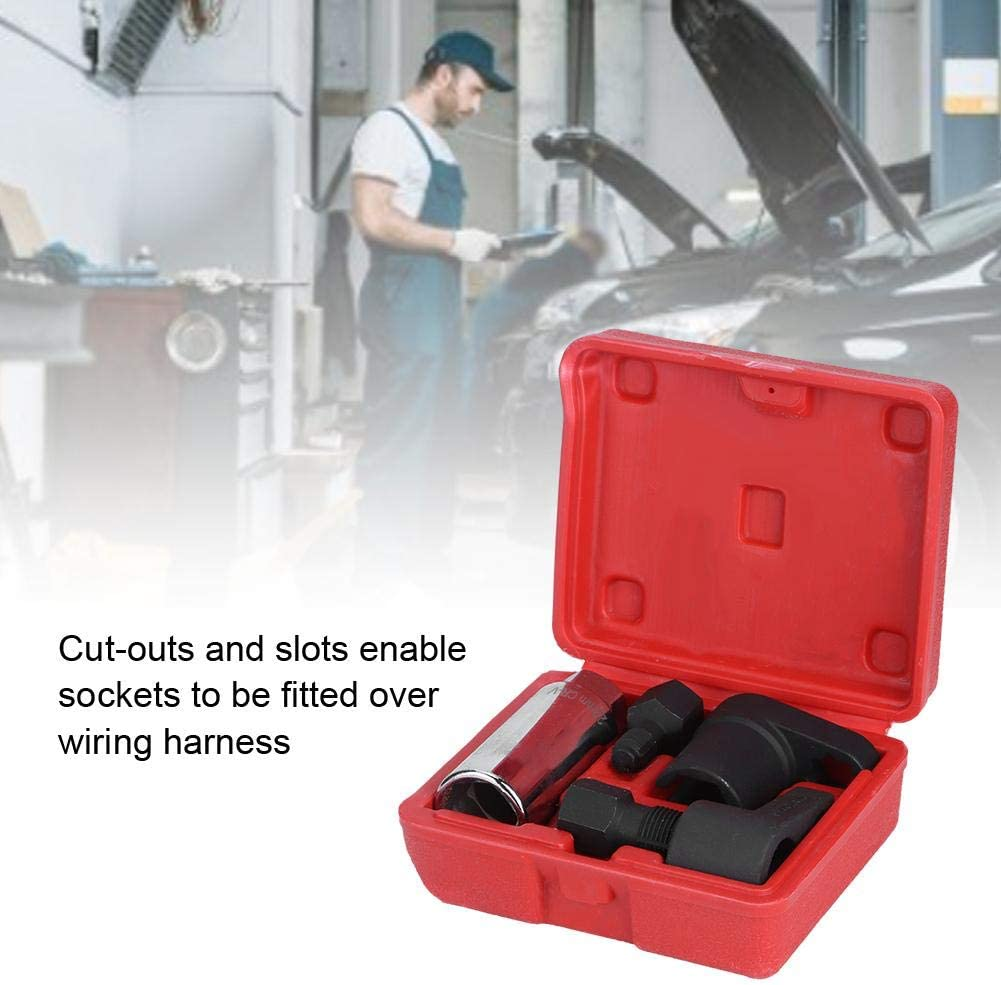Oxygen Sensor Socket 5pcs Oxygen Sensor Socket Wrench Set 6 Point 22mm 7//8in Oxygen Remover Installer Wrench Tool