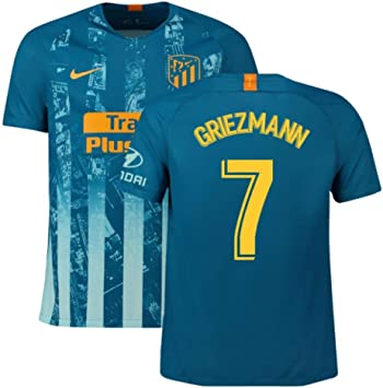 2018-2019 Atletico Madrid Third Nike Football Soccer T-Shirt Camiseta (Antoine Griezmann 7): Amazon.es: Deportes y aire libre