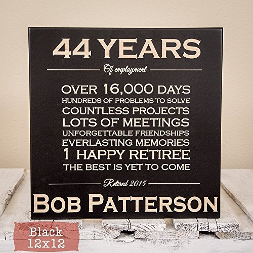 Personalized Retirement Gift – Wood Engraving – Retirement Gifts for Men – Retirement Gifts for Women