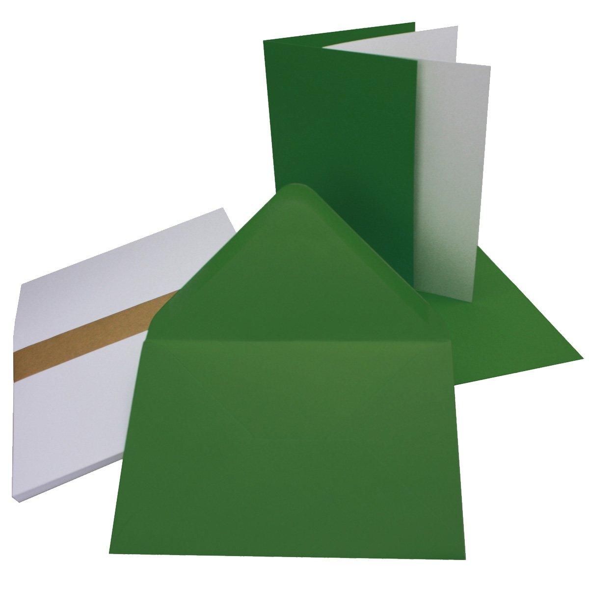 Ideal f/ür Einladungskarten und Gru/ßkarten 75x Qualit/ätsmarke: NEUSER/® FarbenFroh/® DIN B6 Faltkarten-Set in Dunkelgr/ün 17,6 x 11,9 cm mit Umschl/ägen /& Einlegebl/ätter F/ür Drucker geeignet