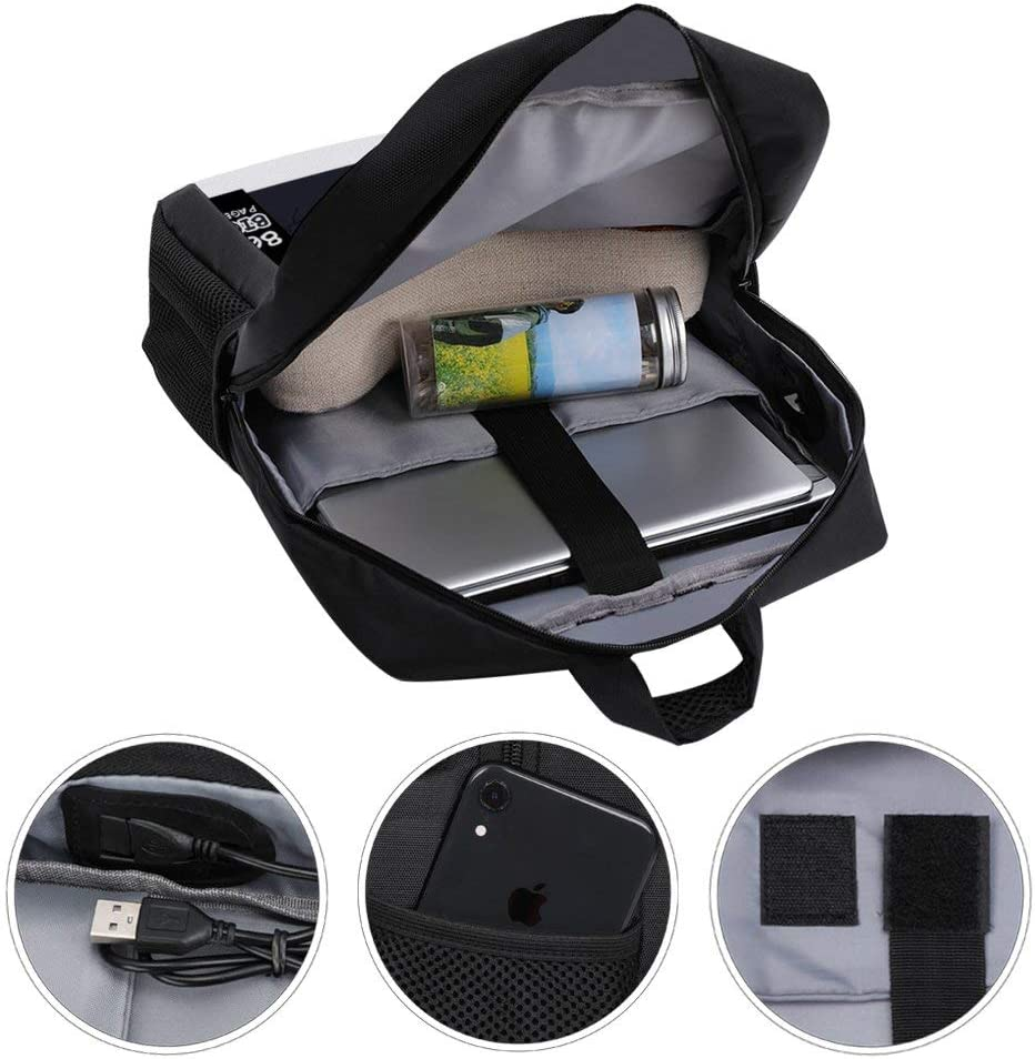 Amazing Police Stories LA Bright Backpack Daypack Rucksack Laptop Shoulder Bag with USB Charging Port