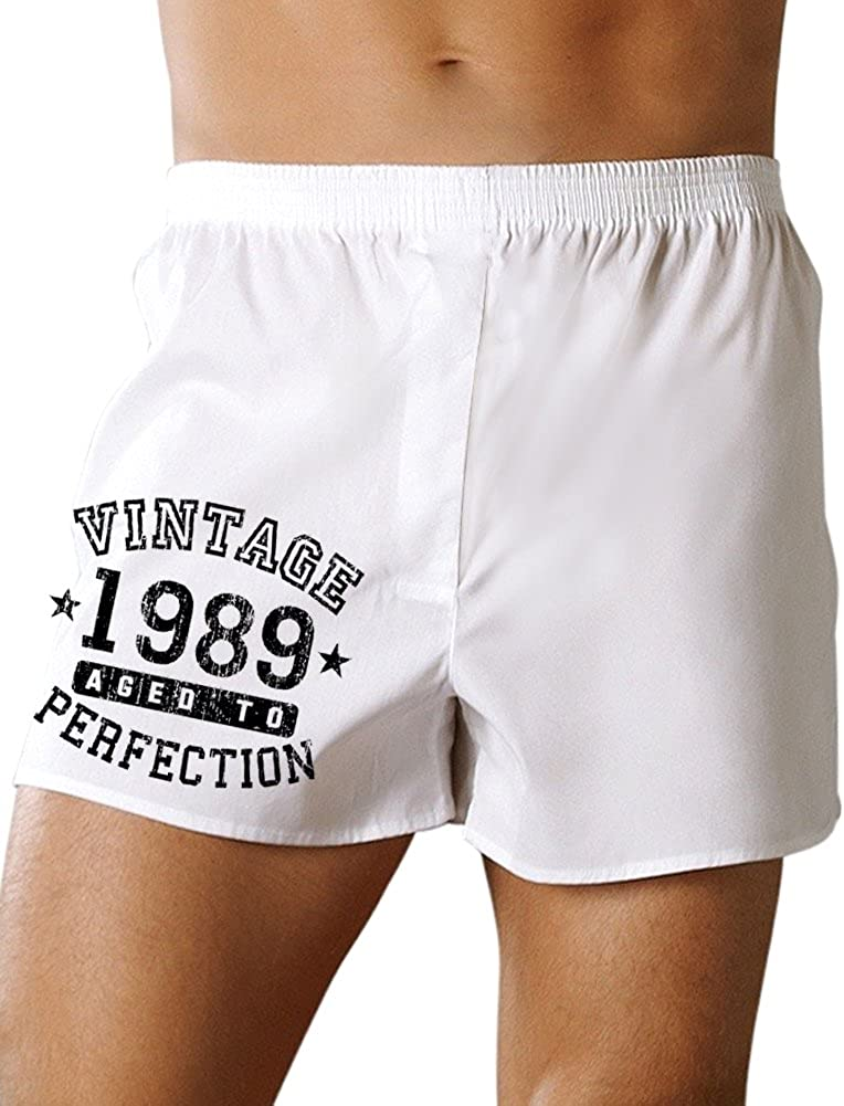 TooLoud 1989 Vintage Birth Year Boxers Shorts Brand