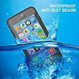 iPhone 7/8 Waterproof Case, Charlemain Underwater Full Sealed Cover Shockproof Snowproof Dustproof Dirtproof IP68 Certified Waterproof Case for iPhone 7 iPhone 8 4.7inch
