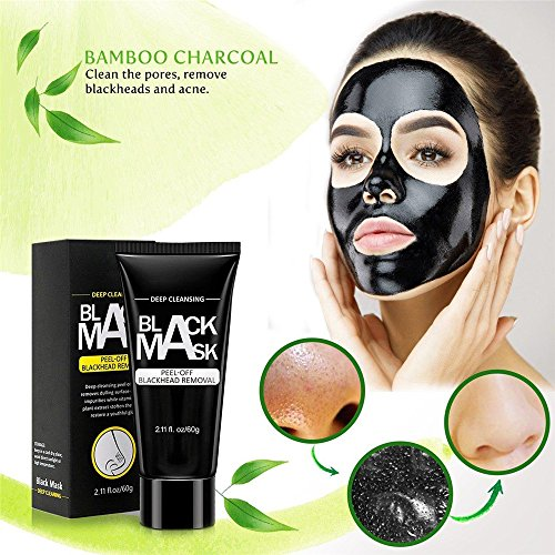 K.Sang Black Mask, Peel Off Mask, Blackhead Remover Mask, Charcoal Mask, Blackhead Peel Off Mask (60g3/10/20) (60g pcs of 10) by K.Sang