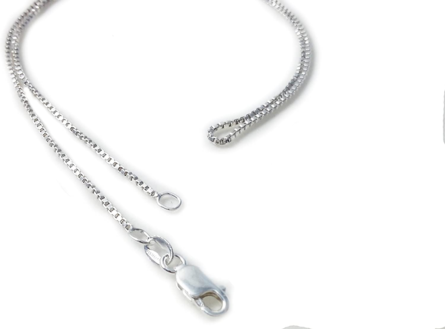 1.2mm Wheat Link Italian Rope Chain Necklace in Solid .925 Italy Sterling Silver